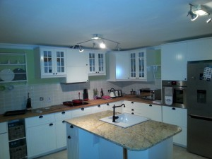 enniskerry kitchen, granite worktop
