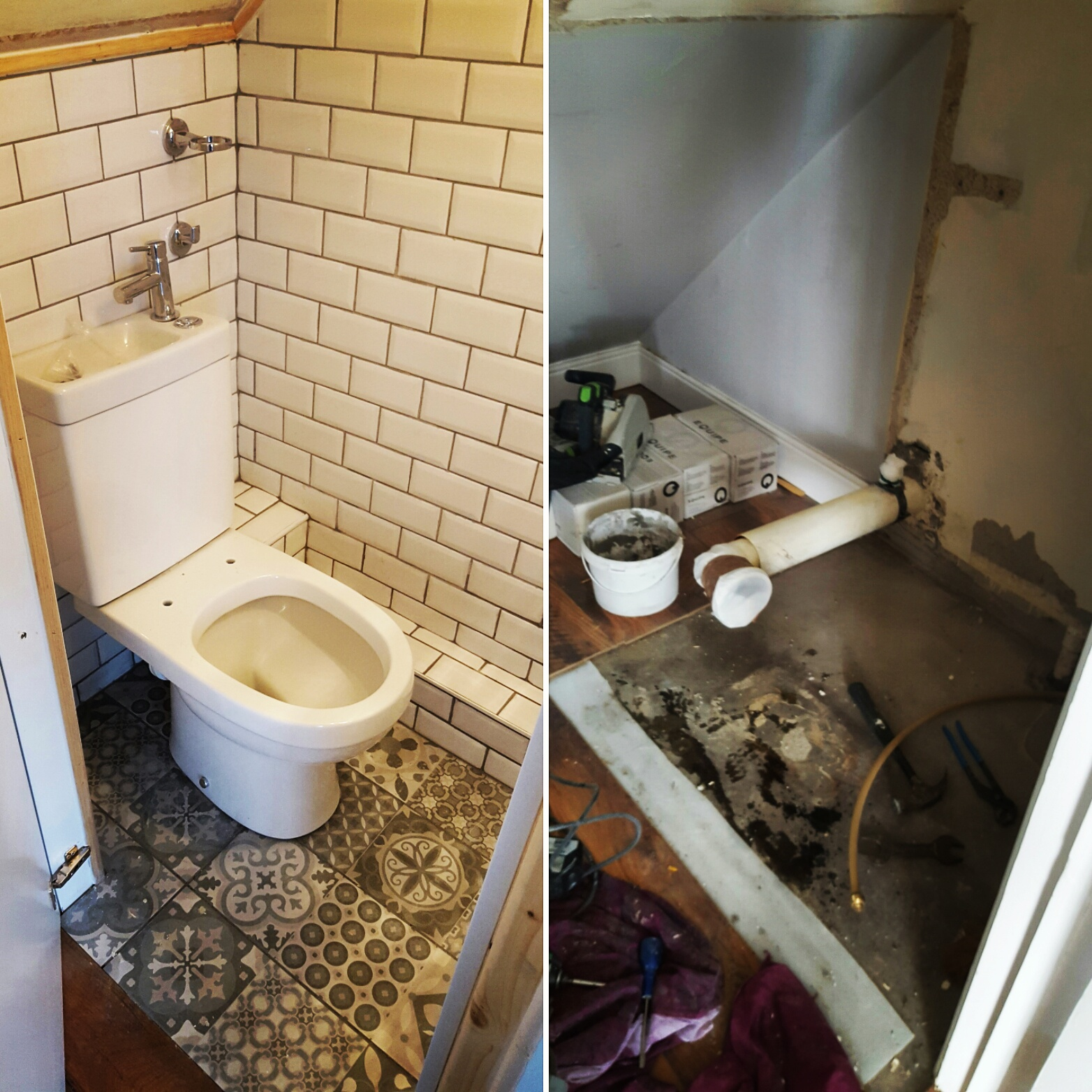 Understairs Toilet Idea - Understairs Toilet Subway Victorian