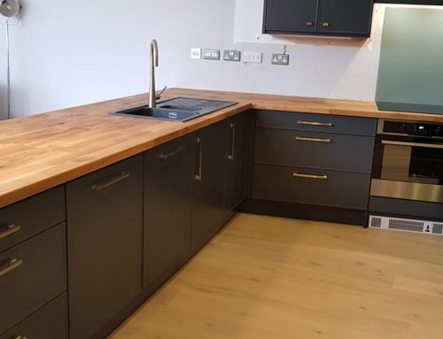 Bespoke Terenure Kitchen in Anthracite with Oak Worktop