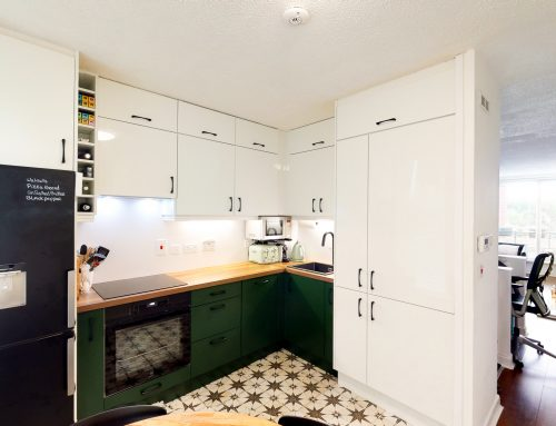 Chapelizod Kitchen With White and Green Doors